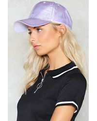 Nasty Gal - Purple Holographic Baseball Cap Holographic Baseball Cap - Lyst