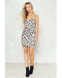 Nasty Gal - White Leopard Print Mini Dress Leopard Print Mini Dress - Lyst