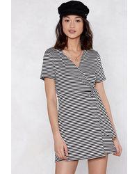 "Nasty Gal Black ""my Stripe Of Gal Mini Dress"""