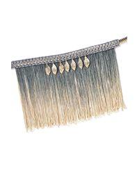 Nasty Gal - Metallic Woven Tassel And Leaves Necklace Woven Tassel And Leaves Necklace - Lyst