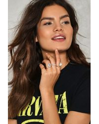 Nasty Gal - Metallic The More The Merrier 5-pc Ring Set The More The Merrier 5-pc Ring Set - Lyst