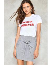 Nasty Gal | Gray It's A Tie Plaid Skirt It's A Tie Plaid Skirt | Lyst