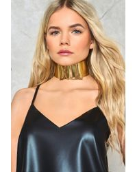 Nasty Gal | Metallic Dolled Up Metal Choker | Lyst