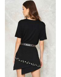 Nasty Gal - Black Bottom Line Asymmetric Skirt - Lyst