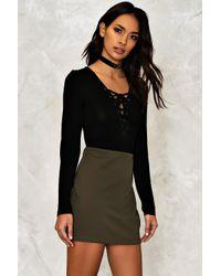 Nasty Gal - Black Anna Mini Skirt - Lyst
