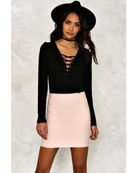 Nasty Gal | Black Diane Mini Skirt | Lyst
