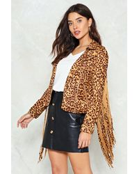Nasty Gal | Multicolor Run Wild Leopard Moto Jacket Run Wild Leopard Moto Jacket | Lyst