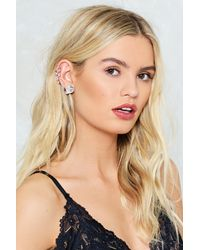 Nasty Gal - Metallic Pearl Ear Cuff Set Pearl Ear Cuff Set - Lyst