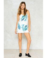 Nasty Gal - White Palm Print Mini Dress Palm Print Mini Dress - Lyst