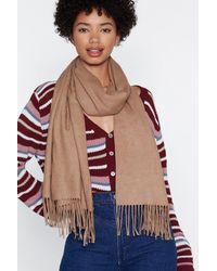 "Nasty Gal - Multicolor ""fringe In High Places Wool Scarf"" - Lyst"