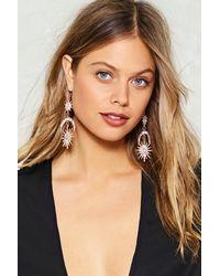 Nasty Gal - Metallic Diamante Statement Sun & Moon Earring Diamante Statement Sun & Moon Earring - Lyst
