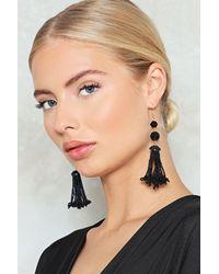 Nasty Gal - Black Beaded Tassel Earring Beaded Tassel Earring - Lyst