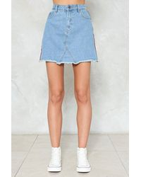 Nasty Gal - Blue All Day And All Of The Night Striped Denim Skirt All Day And All Of The Night Striped Denim Skirt - Lyst