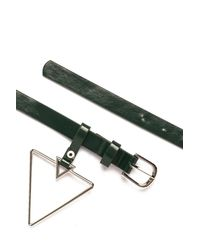Nasty Gal - Green Get The Point Triangle Belt - Lyst