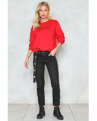 Nasty Gal - Red Dont Be A Dick Sweat Dont Be A Dick Sweat - Lyst