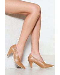 """Nasty Gal - Natural """"the Perfect Match Court Heel"""" - Lyst"""