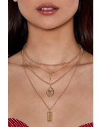 Nasty Gal - Metallic Three Is The Magic Number Layered Necklace - Lyst