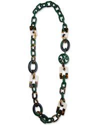 Tory Burch - Multicolor Block Necklace - Lyst