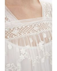 Needle & Thread - Multicolor Cotton Tulle Embroidery Top - Lyst