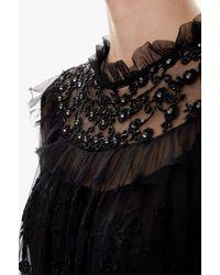 Needle & Thread - Black Shadow Blouse - Lyst
