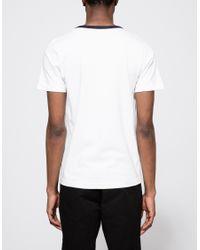Merz B. Schwanen - White Training Shirt In Ink for Men - Lyst