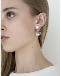 Need Supply Co. - Metallic Stone Earrings - Lyst