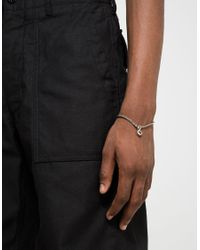 A.P.C. - Metallic Silvertone Andre Chain Bracelet for Men - Lyst