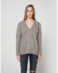 Need Supply Co. | Multicolor Alpha Knit Blouse In Grey | Lyst