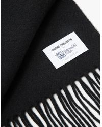 Norse Projects - Black Norse X Johnstons Lambswool Scarf for Men - Lyst