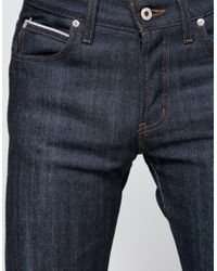 Naked & Famous - Blue Weird Guy Dirty Fade Selvedge 14.5oz. for Men - Lyst