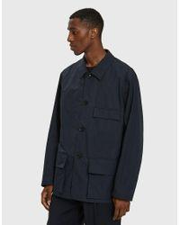 Lemaire - Blue Three Pocket Jacket for Men - Lyst