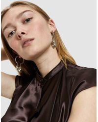 Lemaire - Metallic Pearl Creol Earrings - Lyst