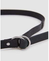 Caputo & Co. - O-ring Belt In Black - Lyst