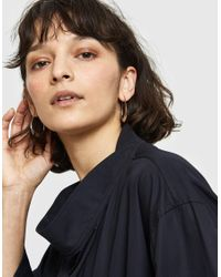 Lemaire - Metallic Hoop Drop Earrings - Lyst
