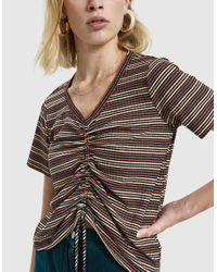 Which We Want - Multicolor Jilli Stripe Shirred Tee - Lyst