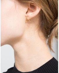 Shihara | Metallic Triangle Earring In 15mm | Lyst