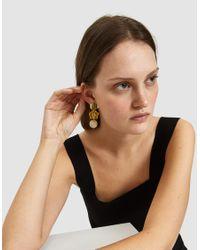 Lizzie Fortunato - Metallic Column Earrings In Goldenrod - Lyst