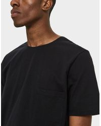 Lemaire - Tee Shirt In Black for Men - Lyst