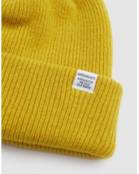 Norse Projects - White Norse Beanie for Men - Lyst