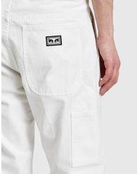 Obey - Straggler Carpenter Pant Iii In White for Men - Lyst