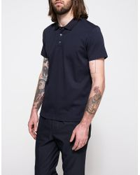 Theory - Black Boyd Polo In Eclipse for Men - Lyst