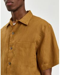 Margaret Howell - Brown 50's Shirt In Tobacco for Men - Lyst