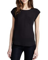 Joie - Black Rancher Short-sleeve Blouse - Lyst