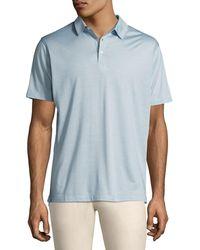 Peter Millar - Blue Collection Cote D'azur Striped Silk-cotton Polo Shirt for Men - Lyst