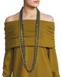 Lafayette 148 New York | Green Long Ombre Beaded Necklace | Lyst