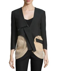 CoSTUME NATIONAL | Black Two-Tone Cotton-Blend Jacket | Lyst