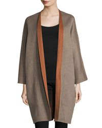 Vince - Gray Reversible Cardigan Wool-cashmere Coat - Lyst