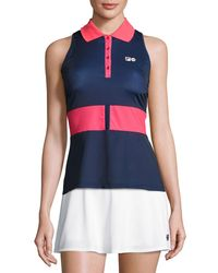 Fila | Red Mb Court Central Sleeveless Polo Shirt | Lyst