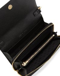 Tory Burch - Black Harper Flat Wallet Crossbody Bag - Lyst