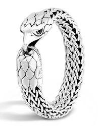 John Hardy - Metallic Men's Silver Eagle Head Chain Bracelet for Men - Lyst